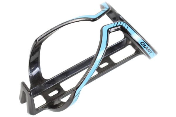 Giant Airway Composie Bottle Cage Gloss Black Blue